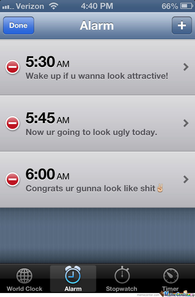 Alarm Settings For Girls