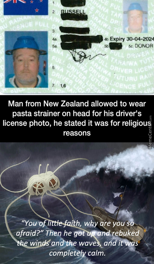 All Hail Flying Spaghetti Monster