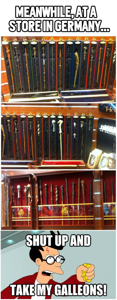 All These Wands... I Must Have Them All!!