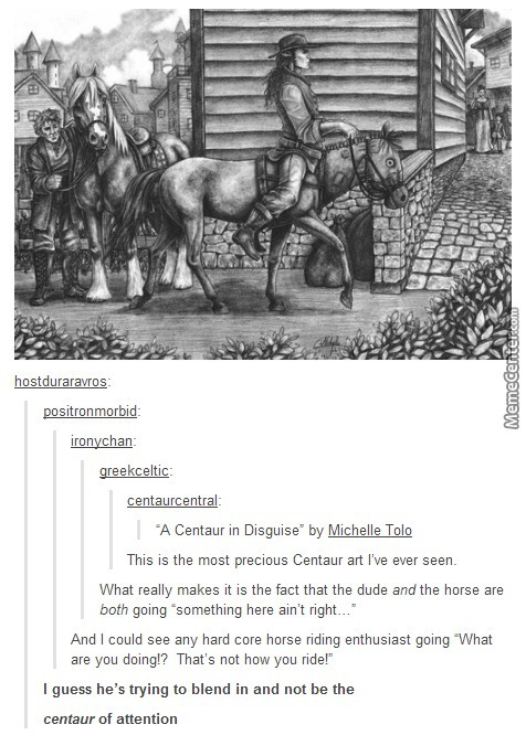 Also, Would A Baby Centaur Suckle From The Nipples Of The Human Half Or The Centaur Half?