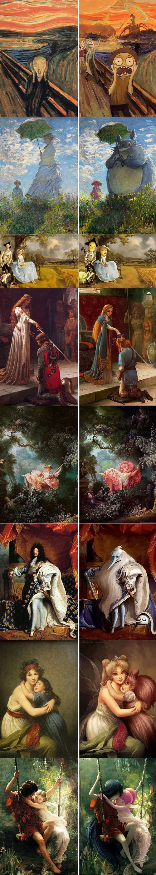 Altered Artwork 2 Famous Paintings Re-Imagined By Lothlenan