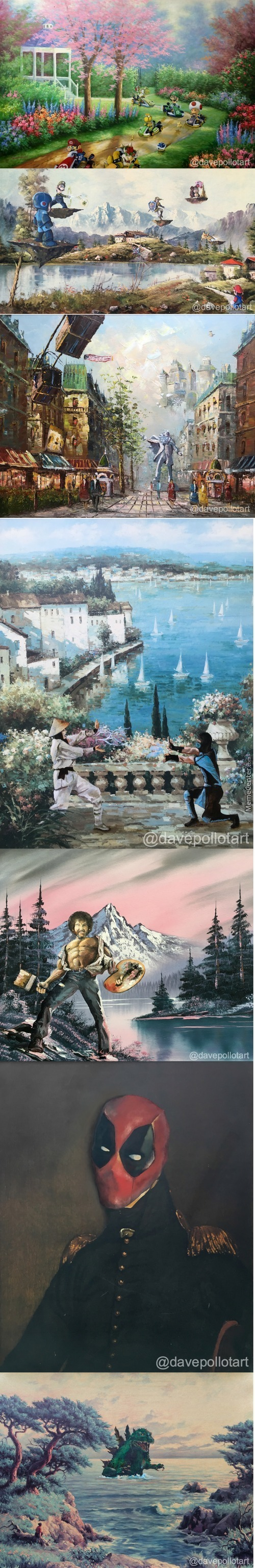 Altered Artwork Thrift Store Paintings Re Imaged By Dave Pollot