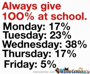 Always Give 100% At School !!