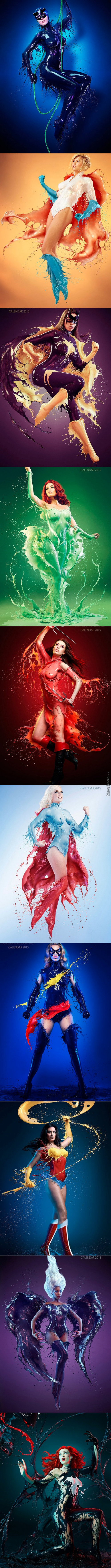 Amazing Superhero Body Art! (Long Post)