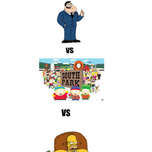American Dad Vs South Park Vs The Simpsons by fenixzor