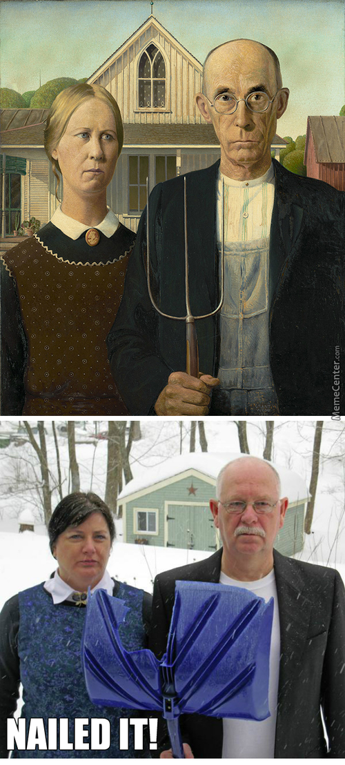 American Gothic Nailed