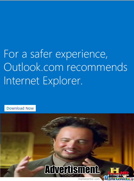 'recommends Internet Explorer' You Having A Laugh?
