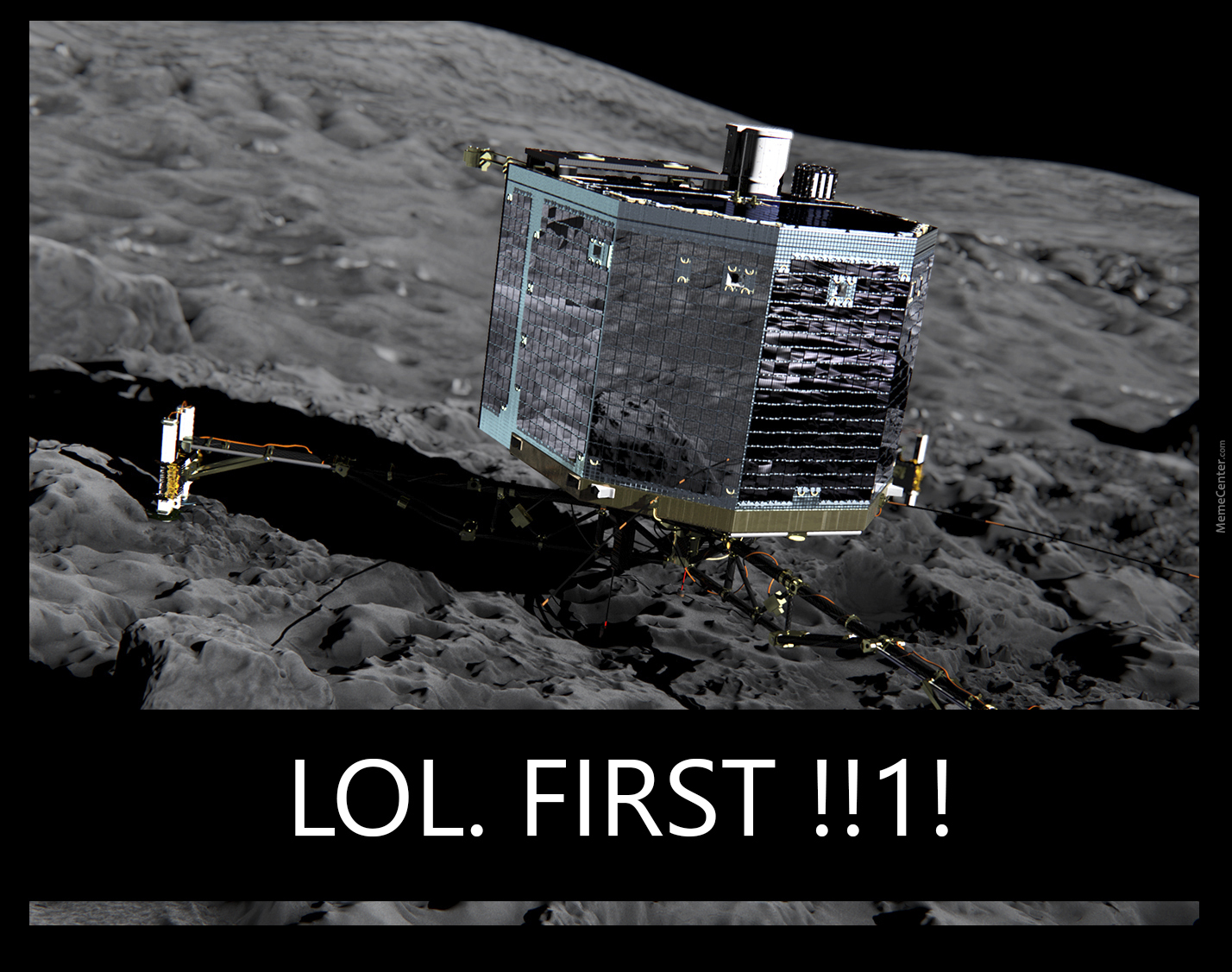 """""""first"""" Landing On A Comet"""