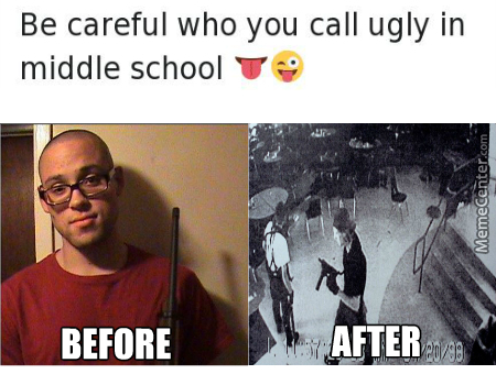 Funny School Meme Pictures : Be carefull who you call ugly in middle school meme memes best