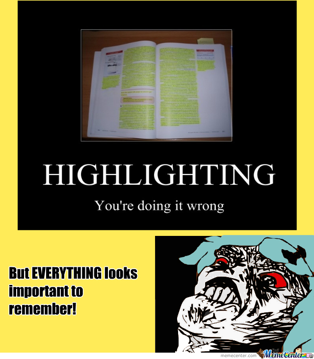 highlight what s important highlights whole page by recyclebin