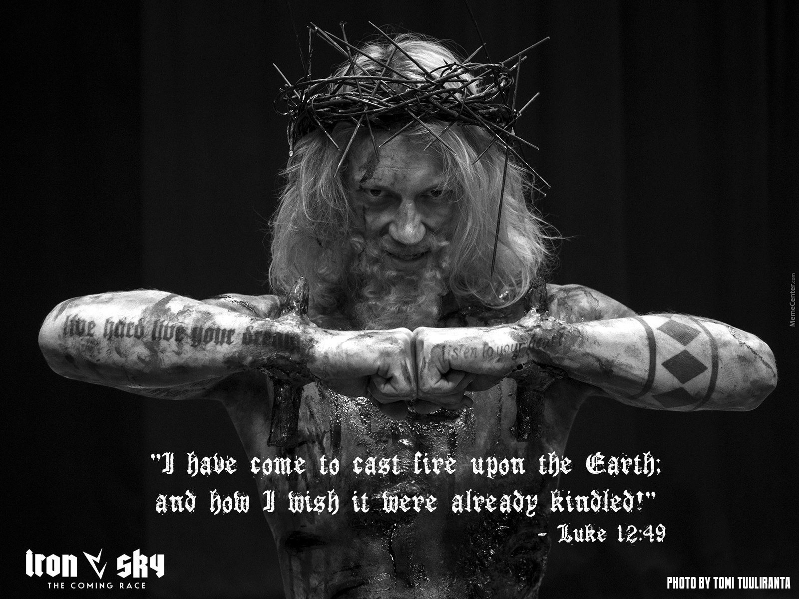 "Black Jesus Quotes Iron Sky"" Making Jesus Badass With Actual Bible Quotes."