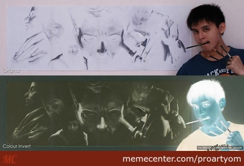"""""""this Is The Art Of Brian Lai, He Draws In Negatives."""""""