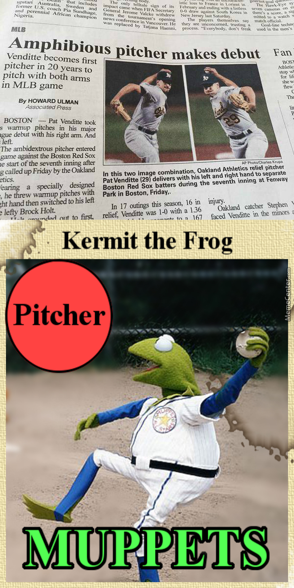 Amphibious Pitcher Is Really Hitting It Off And They Have This Rare Card Of Him