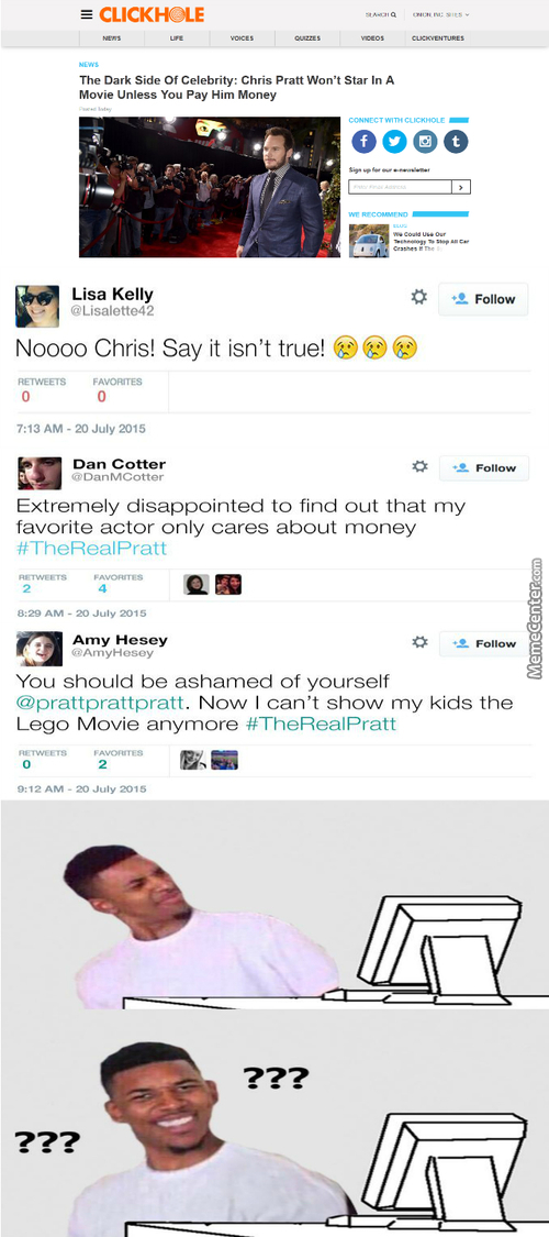 An Actor Wants Money Because He Doing His Job! What A Selfish A-Hole!