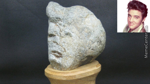 An 'elvis' Rock Found In The Hall Of Curious Rocks, Japan