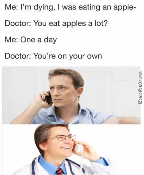An Apple A Day Keep Everyone Away Actually If You Throw Hard Enough
