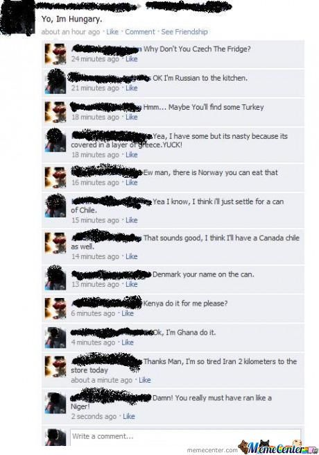 An Average Day On Facebook