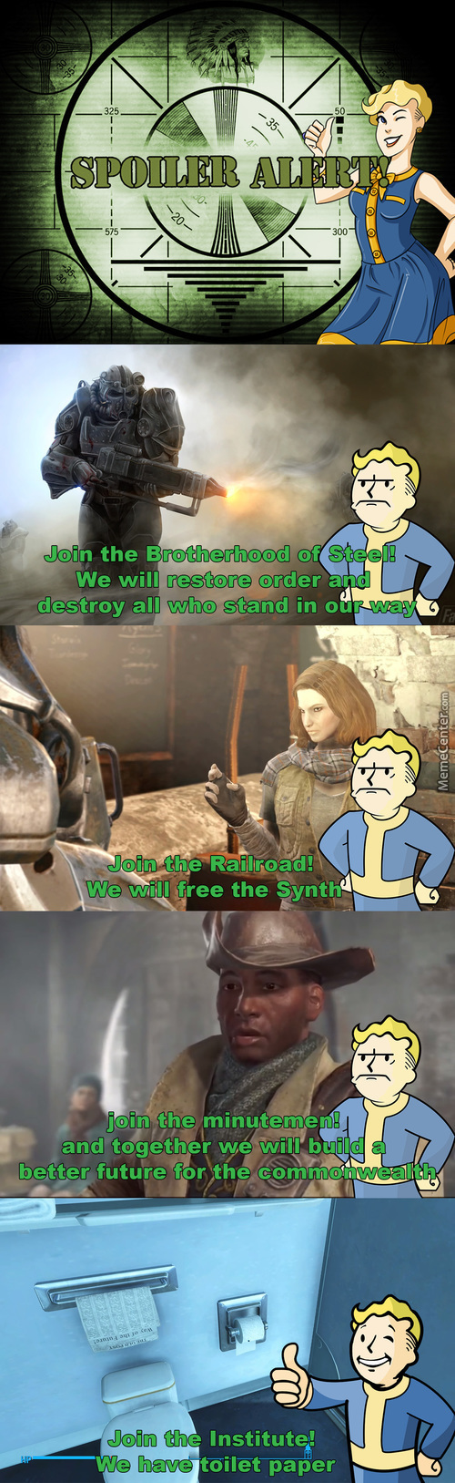 An Offer You Can't Refuse(Fallout 4 Spoilers)