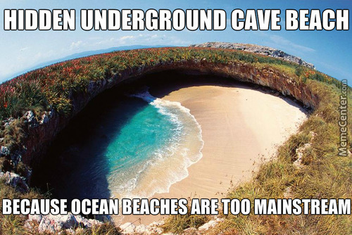 An Underground Beach In Mexico