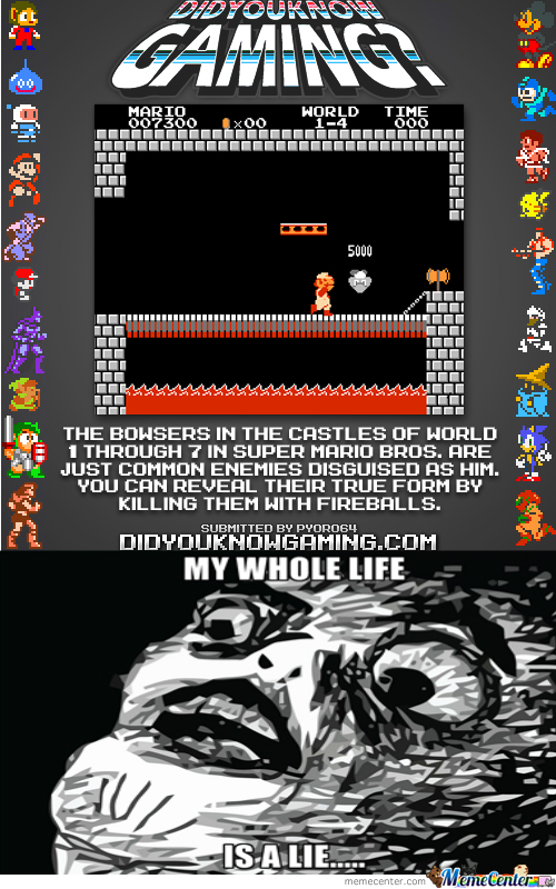 And All This Time I Thought I Was Kicking Bowser's Butt