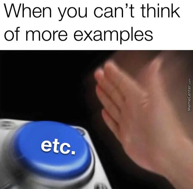 And Etc...