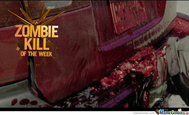 And For That Mr. Dixon, You Have Been Awarded Zombie Kill Of The Week.(Made By The Laughing Dead On Facebook!)