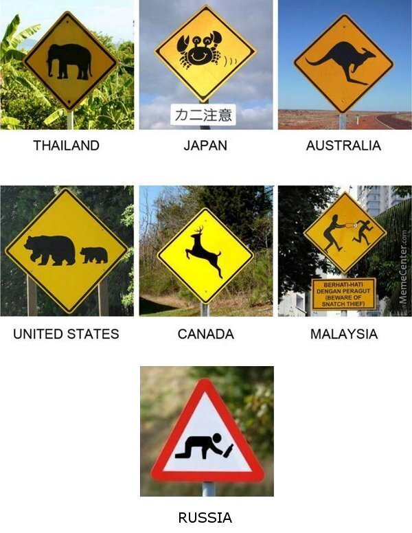 And Here We Have Signs That Make Sense In There Respective Countries...oh Wait, Hang On!