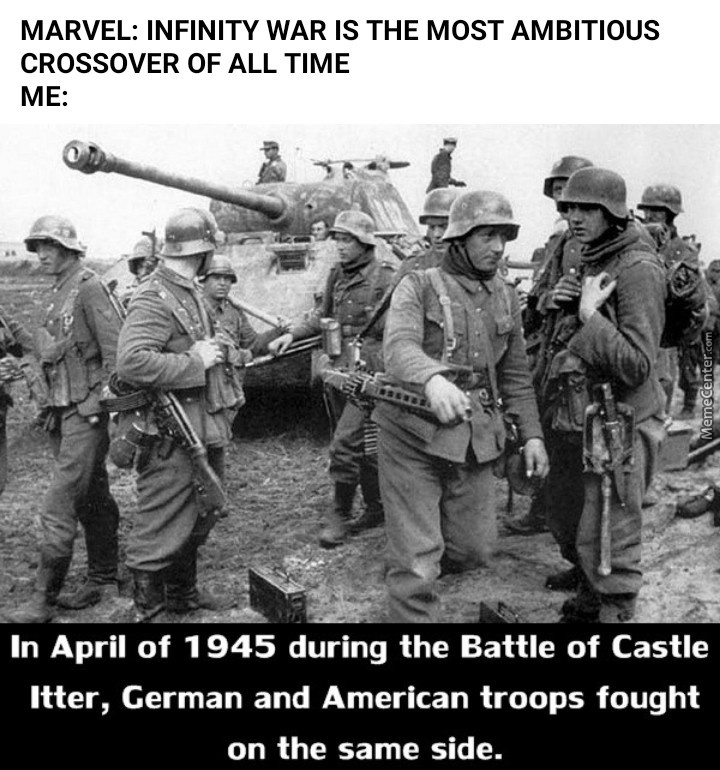 And It's American Troops And The German Army Joining Together At Last