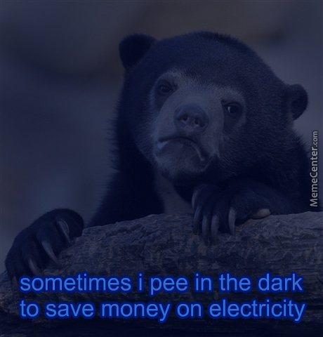 And Keep Sitting There Til I've Peed Again To Save Money On Toilet Paper