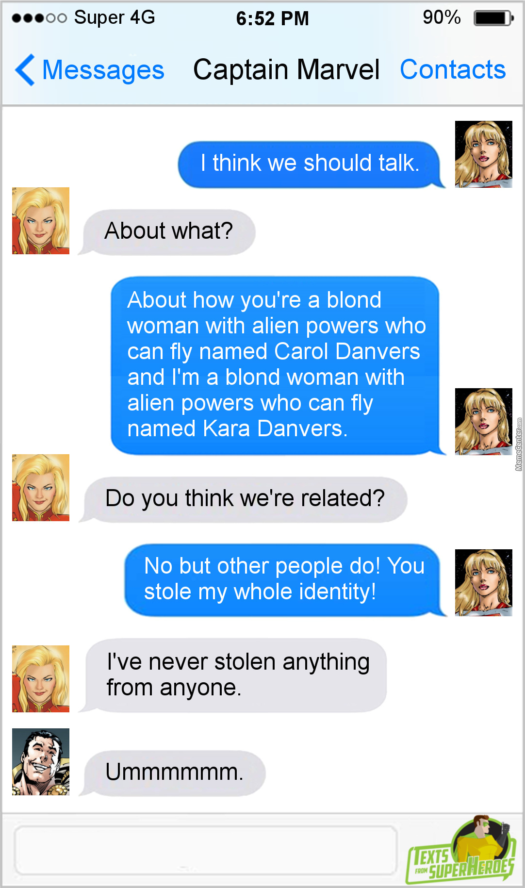"""And Let's Not Even Get Into The Fact That Dc Has A """" Captain Marvel """" As Well"""