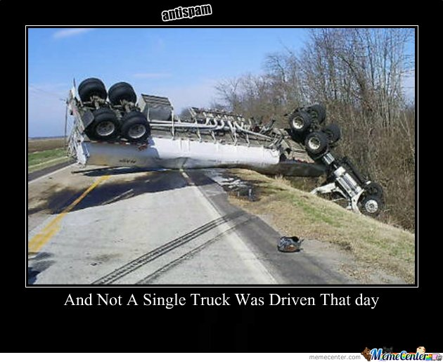 and not a single truck