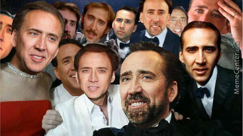 "And The Oscar Goes To Nicolas Cage For The Movie ""wolf Of Caged"""