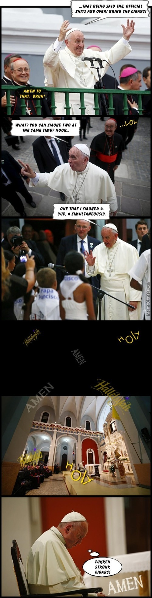 And Them, He Pope Went To Cuba