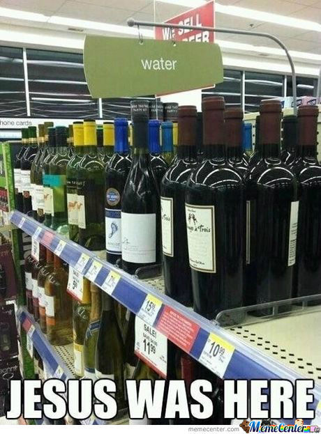 And Then He Turned Water Into Wine