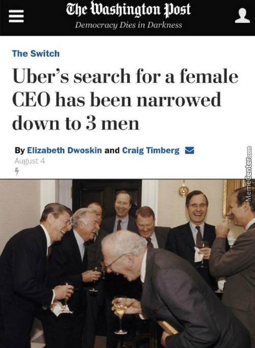 And Then We Said We're Going To Hire A Female Ceo