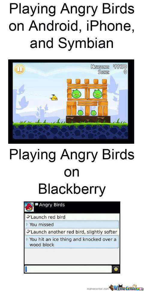 Angry Bird On Blackberry