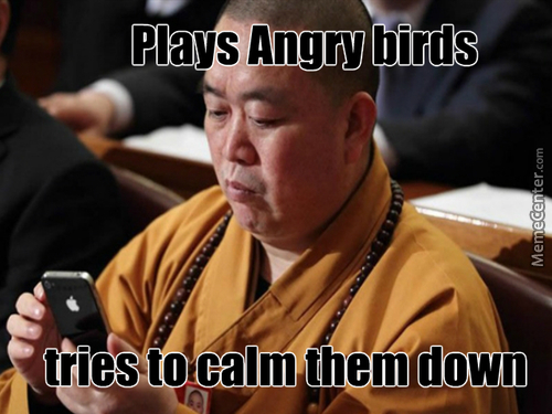 Angry Birds And Monks