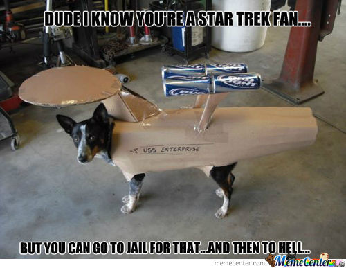 Animal Cruelty...i Mean This Dog Is Obviously A Star Wars Fan.