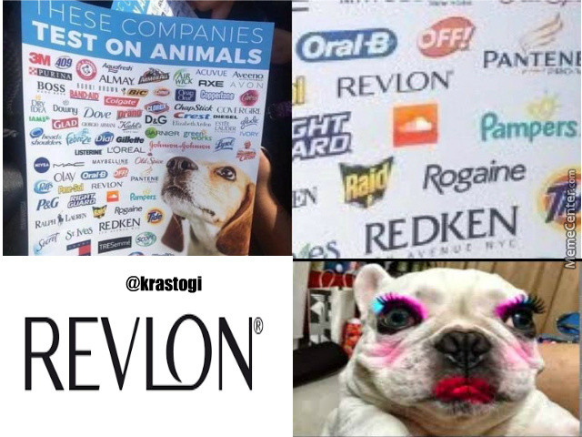 Animals Test On These Companies:revlon