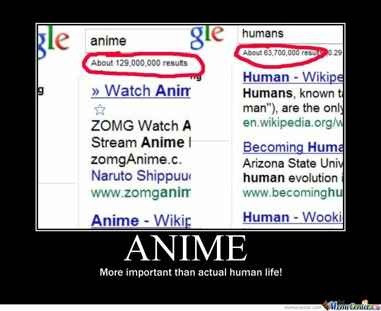 Anime More Important Than Humans