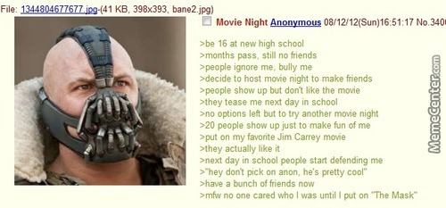 Anon Had To Put On The Mask