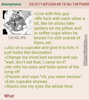 Anon Has A Weird Roommate