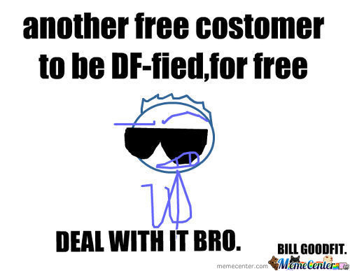 Another Free Costomer Happily Served