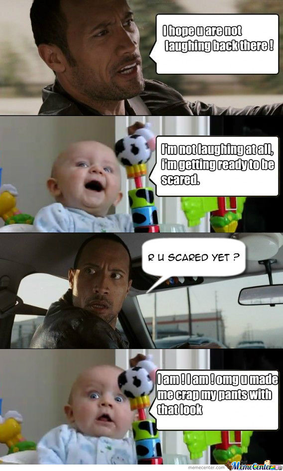 another the rock vs baby_o_1354235 another the rock vs baby by ashkimodie meme center