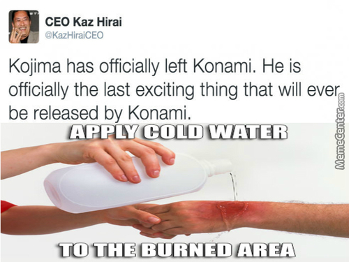 Anyone Want Barbecue Cus Konami Just Got Roasted