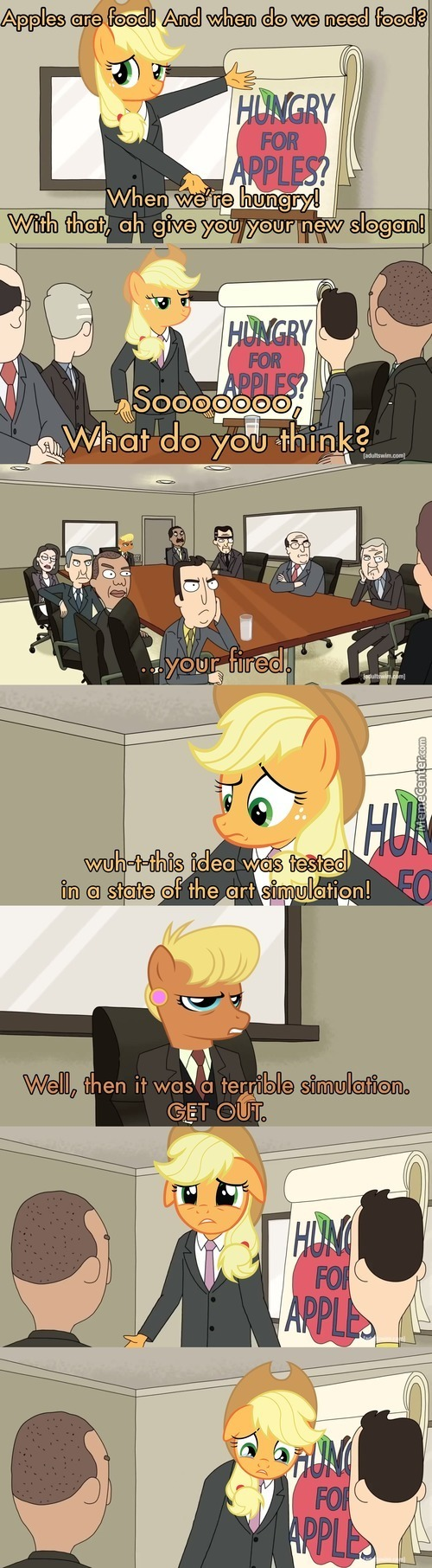 Applejack And Her Apple Slogan.