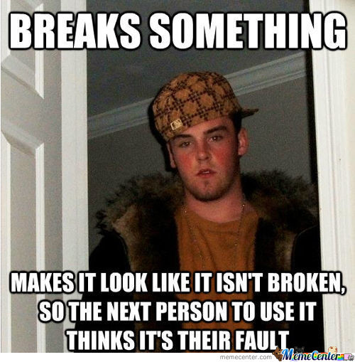 Are We All Scumbags This Way?