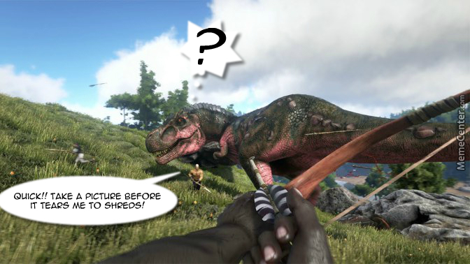 Ark Survival Evolved By Lovliestcoot1 Meme Center