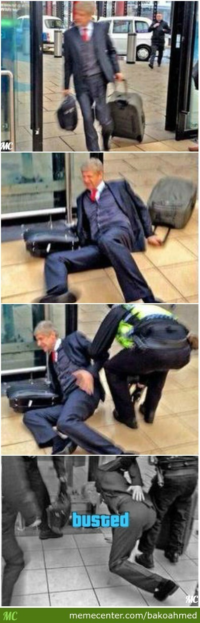 Arsène Wenger Gets Busted.