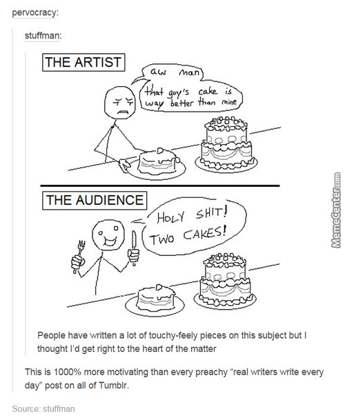 Art Is Like A Cake, And So Is Humor.